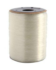 Cordino elastico per gioielli, rotondo, spess. 0,8 mm, 1000 m/ 1 rot.