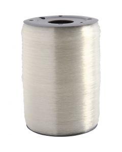 Cordino elastico per gioielli, rotondo, spess. 0,5 mm, 1000 m/ 1 rot.