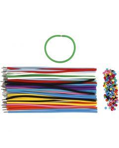 Braccialetti, L: 20 cm, spess. 4 mm, colori asst., 48 set/ 1 conf.