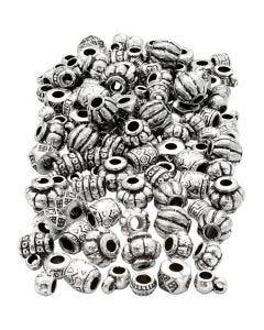 Mix perline in plastica, misura 7-11 mm, misura buco 3 mm, 200 g/ 1 conf.