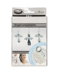 Decorazione angelo, H: 2,8 cm, 32 pz/ 1 conf.