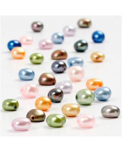 Perle d'acqua dolce, misura 5-6 mm, misura buco 0,5 mm, 40 cm/ 1 conf.