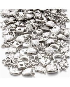 Pendenti in argento, misura 15-20 mm, misura buco 3 mm, 80 g/ 1 conf.