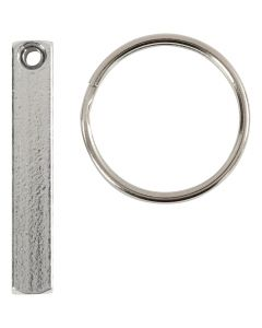 Kit portachiavi, misura 40x5 mm, 6 pz/ 1 conf.