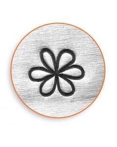 Timbro per embossing, fiore, L: 65 mm, misura 6 mm, 1 pz