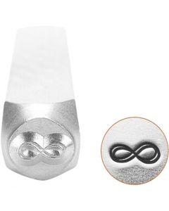 Timbro per embossing, Simbolo dell'infinito, L: 65 mm, misura 6 mm, 1 pz