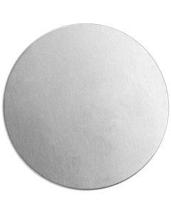 Targhetta in metallo, rotonda, diam: 20 mm, spess. 1,3 mm, aluminium, 15 pz/ 1 conf.