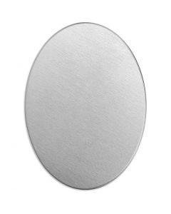 Targhetta in metallo, ovale, misura 25x18 mm, spess. 1,3 mm, aluminium, 15 pz/ 1 conf.