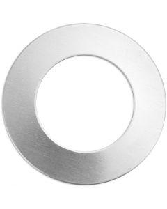 Targhetta in metallo, anello, diam: 32 mm, misura buco 19,32 mm, spess. 1,3 mm, aluminium, 9 pz/ 1 conf.