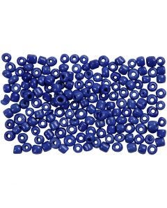 Perline rocaille, diam: 3 mm, misura 8/0 , misura buco 0,6-1,0 mm, blu, 500 g/ 1 conf.