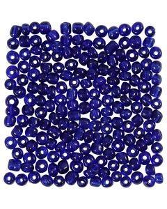 Perline rocaille, diam: 4 mm, misura 6/0 , misura buco 0,9-1,2 mm, blu cobalto, 25 g/ 1 conf.