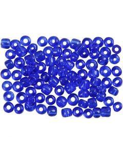 Perline rocaille, diam: 4 mm, misura 6/0 , misura buco 0,9-1,2 mm, blu cobalto, 500 g/ 1 conf.