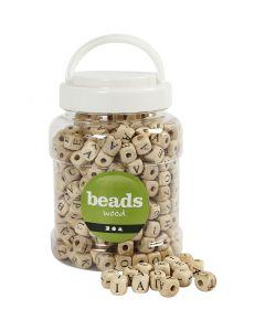 Perline di legno, misura 9x9x9 mm, misura buco 3 mm, 400 ml/ 1 secch., 185 g