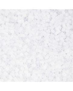 2-cut, diam: 1,7 mm, misura 15/0 , misura buco 0,5 mm, bianco, 500 g/ 1 sacco