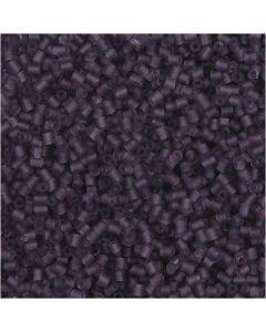 2-cut, diam: 1,7 mm, misura 15/0 , misura buco 0,5 mm, frosted purple, 500 g/ 1 sacco