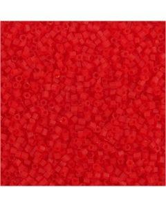 2-cut, diam: 1,7 mm, misura 15/0 , misura buco 0,5 mm, transparent rosso, 25 g/ 1 conf.