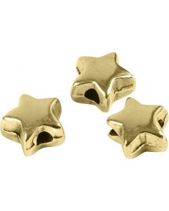 Perla spaziatrice, misura 5,5x5,5 mm, misura buco 1 mm, placcato oro, 3 pz/ 1 conf.