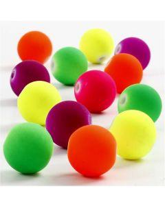 Perline neon, diam: 12 mm, misura buco 2 mm, 200 g/ 1 conf.