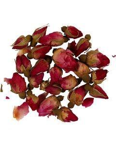 Fiori secchi, Boccioli di rosa, L: 1 - 2 cm, diam: 0,6 - 1 cm, rosa scuro, 1 conf.
