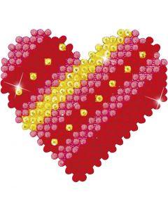 Diamond Dotz, cuore patchwork, 1 conf.