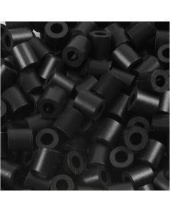 Perline a tubetto, misura 5x5 mm, misura buco 2,5 mm, medium, nero (32220), 6000 pz/ 1 conf.