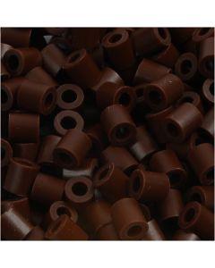 Perline a tubetto, misura 5x5 mm, misura buco 2,5 mm, medium, marrone (32229), 1100 pz/ 1 conf.