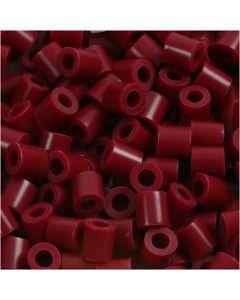 Perline a tubetto, misura 5x5 mm, misura buco 2,5 mm, medium, porpora (32239), 1100 pz/ 1 conf.