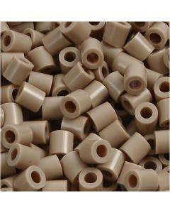 Perline a tubetto, misura 5x5 mm, misura buco 2,5 mm, medium, beige (32248), 6000 pz/ 1 conf.