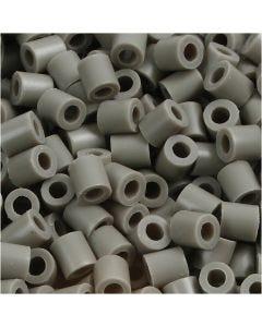 Perline a tubetto, misura 5x5 mm, misura buco 2,5 mm, medium, color cenere (32226), 1100 pz/ 1 conf.