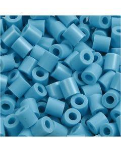 Perline a tubetto, misura 5x5 mm, misura buco 2,5 mm, medium, turchese (32256), 6000 pz/ 1 conf.