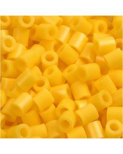 Perline a tubetto, misura 5x5 mm, misura buco 2,5 mm, medium, giallo (32227), 1100 pz/ 1 conf.