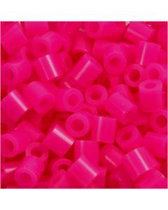 Perline a tubetto, misura 5x5 mm, misura buco 2,5 mm, medium, cerise (32258), 6000 pz/ 1 conf.