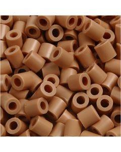 Perline a tubetto, misura 5x5 mm, misura buco 2,5 mm, medium, marrone chiaro (32260), 6000 pz/ 1 conf.