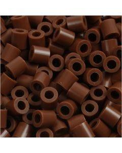 Perline a tubetto, misura 5x5 mm, misura buco 2,5 mm, medium, cioccolato (32249), 1100 pz/ 1 conf.