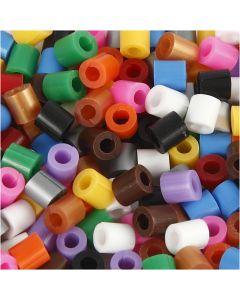 Perle forate con apertura, misura 5x5 mm, misura buco 2,5 mm, medium, colori standard, 1100 asst./ 1 conf.