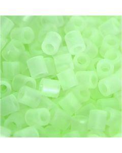 Perline a tubetto, misura 5x5 mm, misura buco 2,5 mm, medium, fosforescente, 1100 pz/ 1 conf.