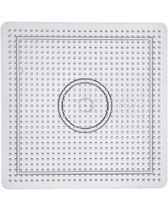 Pannello forato, misura 14,5x14,5 cm, transparent, 1 pz