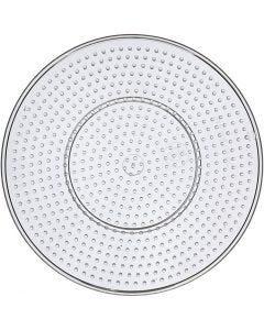 Pannello forato, grande rotondo, diam: 15 cm, transparent, 10 pz/ 1 conf.