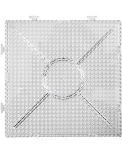 Pannello forato, quadrato grande, misura 15x15 cm, transparent, 2 pz/ 1 conf.