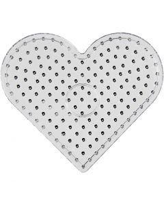 Pannello a pioli, cuore, JUMBO, transparent, 5 pz/ 1 conf.
