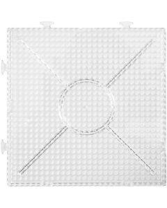 Pannello forato, misura 15x15 cm, transparent, 2 pz/ 1 conf.
