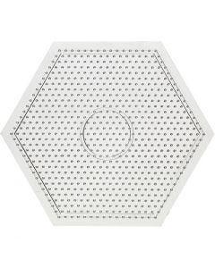 Pannello forato, misura 15x15 cm, transparent, 1 pz