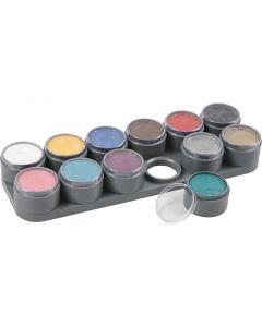 Tavolozza trucco viso a base d'acqua, colori asst., 12x15 ml/ 1 pz