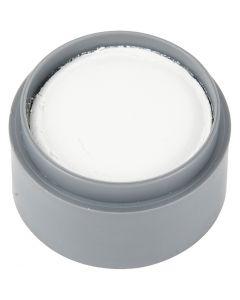 Pittura facciale a base d'acqua, bianco, 15 ml/ 1 vasch.