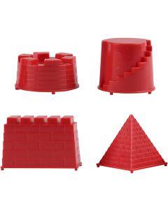 Stampini, castello, misura 5,5-8,5 cm, 4 pz/ 1 conf.