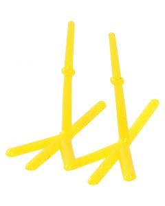 Zampe di gallina, H: 28 mm, L: 37 mm, giallo, 50 pz/ 1 conf.