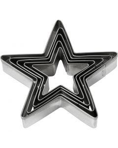 Formine tagliabiscotti, stella, misura 8 cm, 5 pz/ 1 conf.