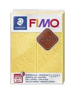 FIMO® effetto cuoio , saffran yellow (109), 57 g/ 1 conf.