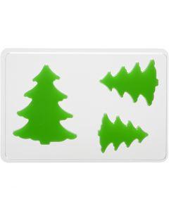Stampo decorativo, abete, H: 6+8+10 cm, misura 14,9x22 cm, 1 pz