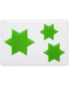 Stampo decorativo, stella, H: 6+8+10 cm, misura 14,9x22 cm, 1 pz
